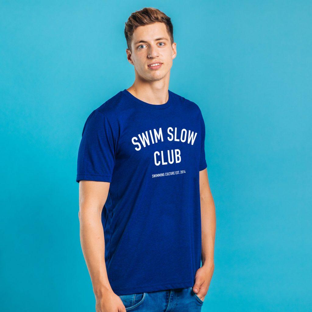swim slow club male t-shirt tee