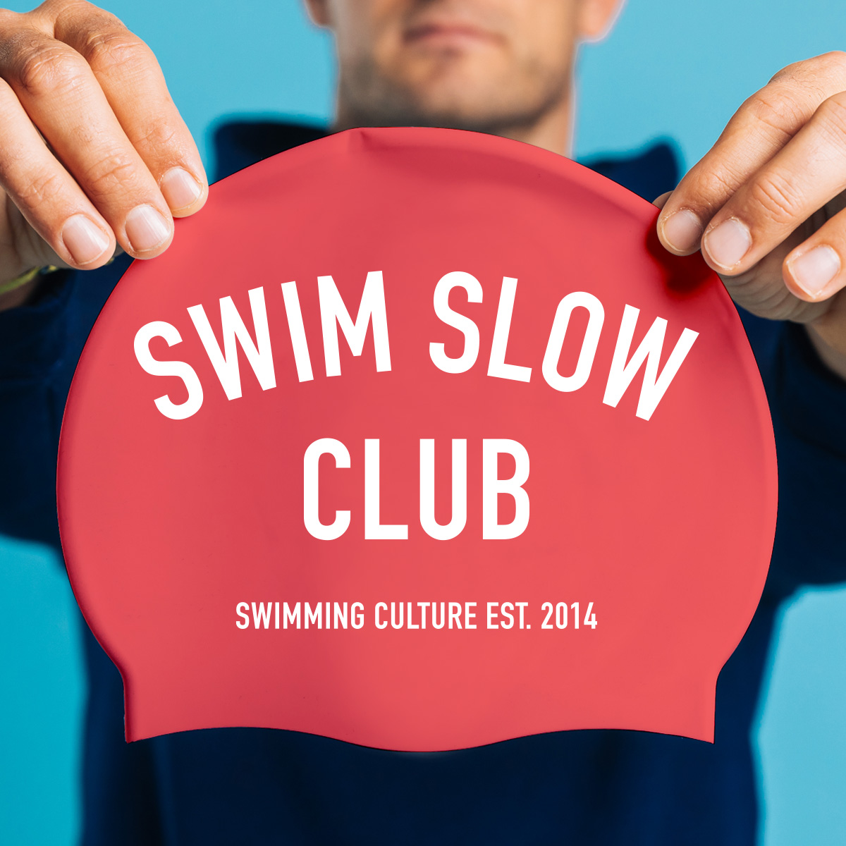 Swimcap Limited Swim Slow Club Silicone In Various Colours
